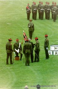 Pioneer Bn Colours Parade PN 1993 037