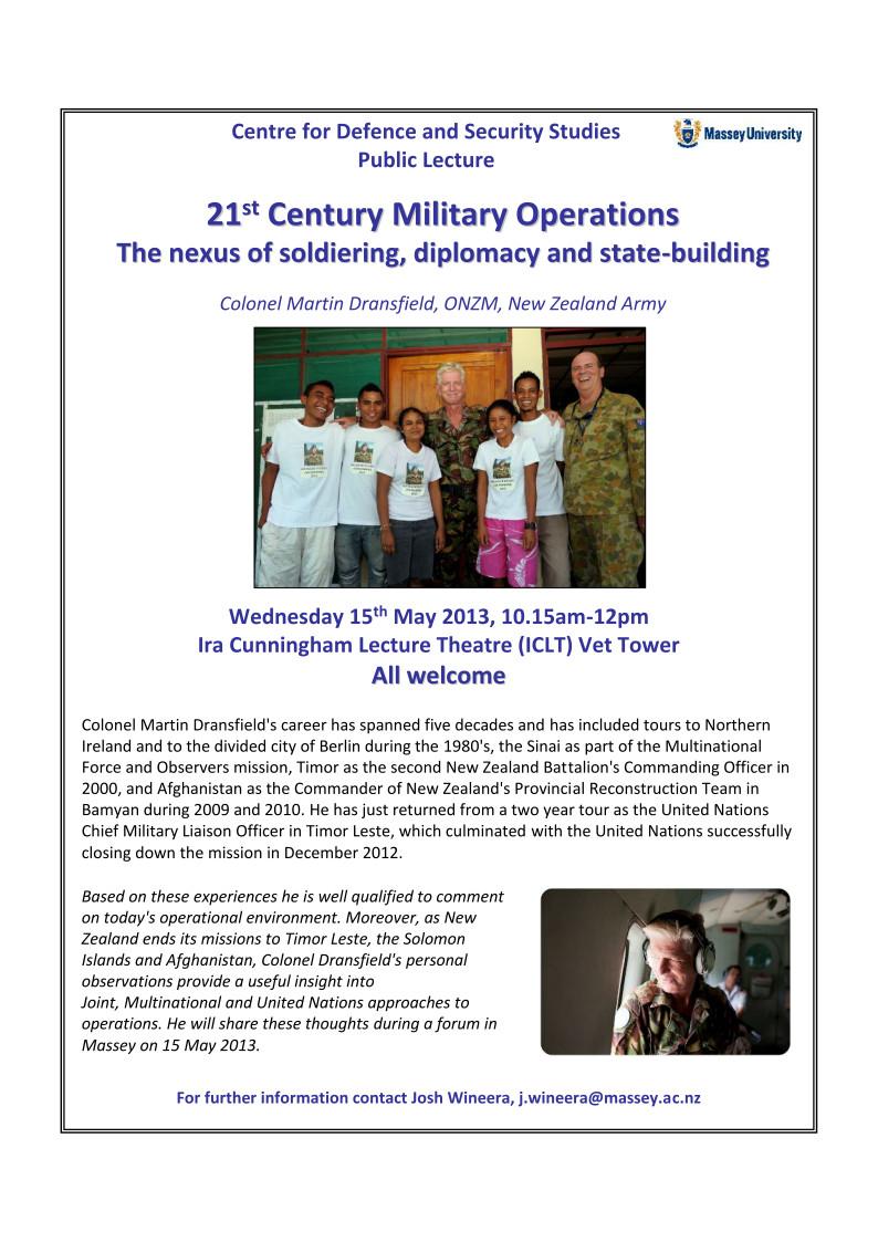 Martin Dransfield 21st Century Operations