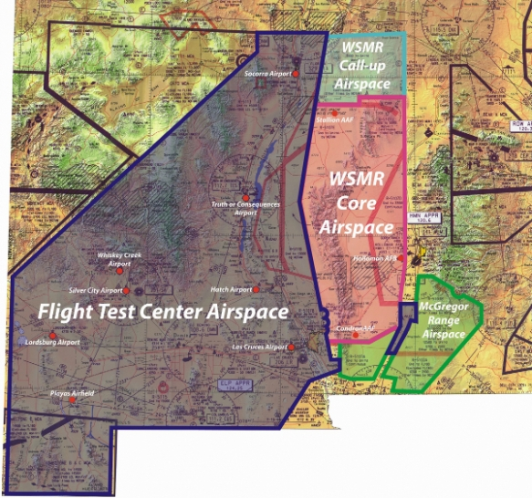 COA airspace map with Deming removed