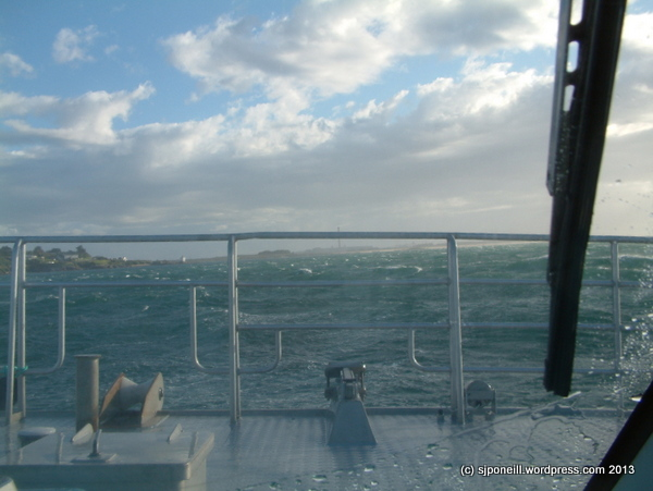 Crossing Foveaux Strait - not calm!! 011