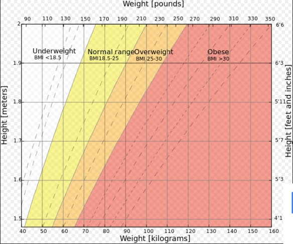 wiki bmi table