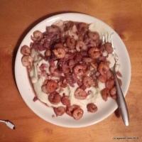 Garlic Shrimp on cauliflower mash